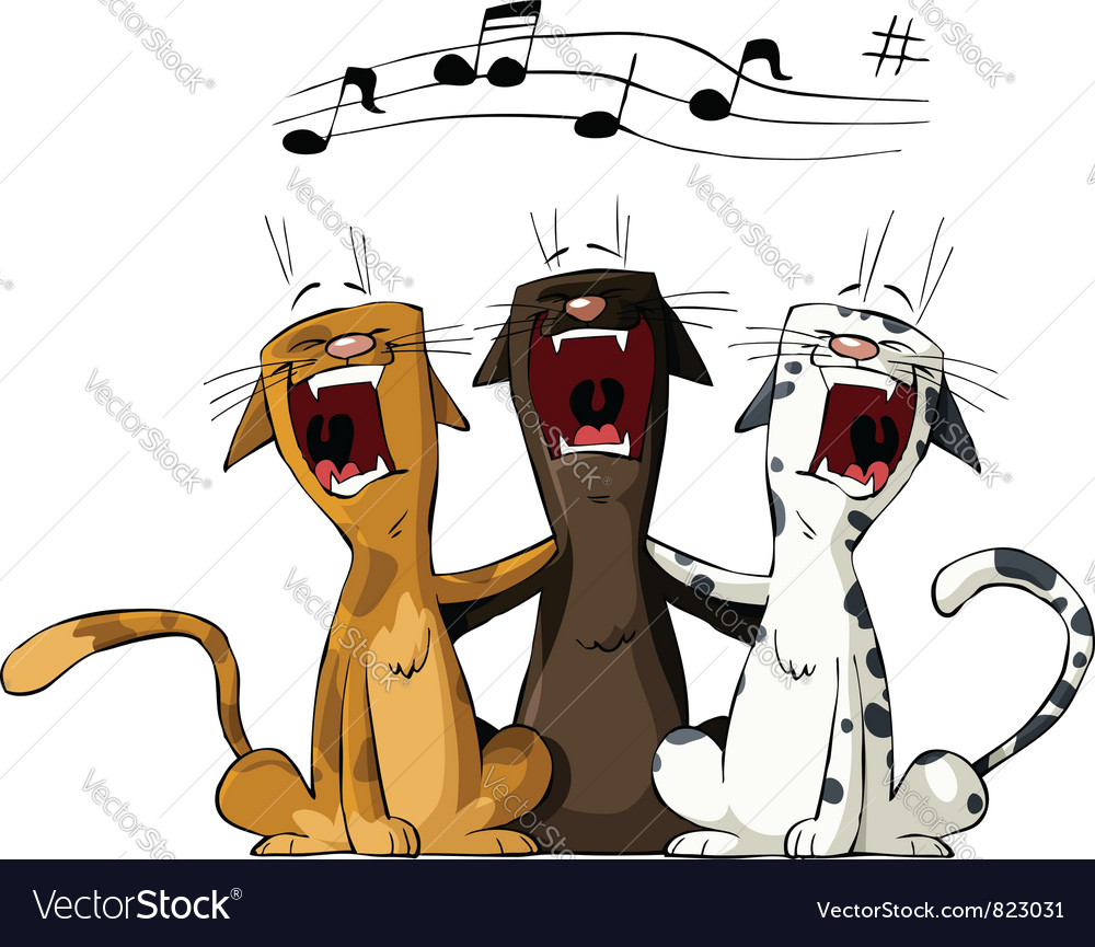 Three cats vector