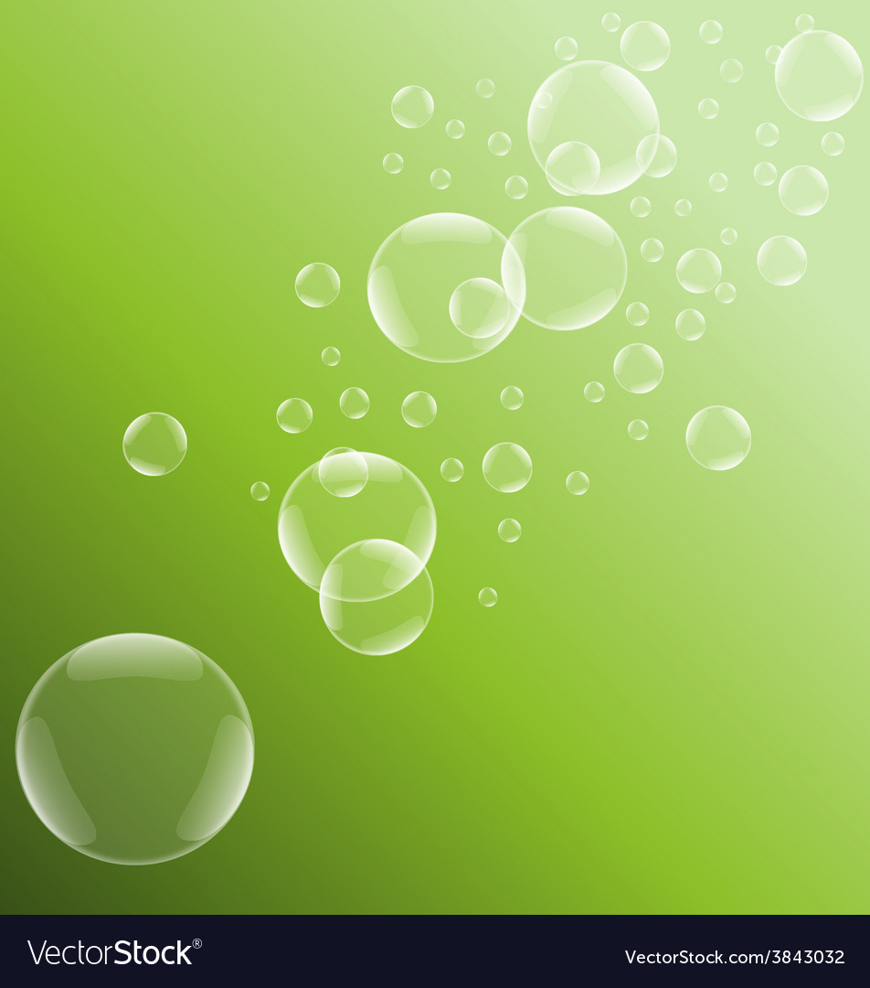 Green bubble background vector