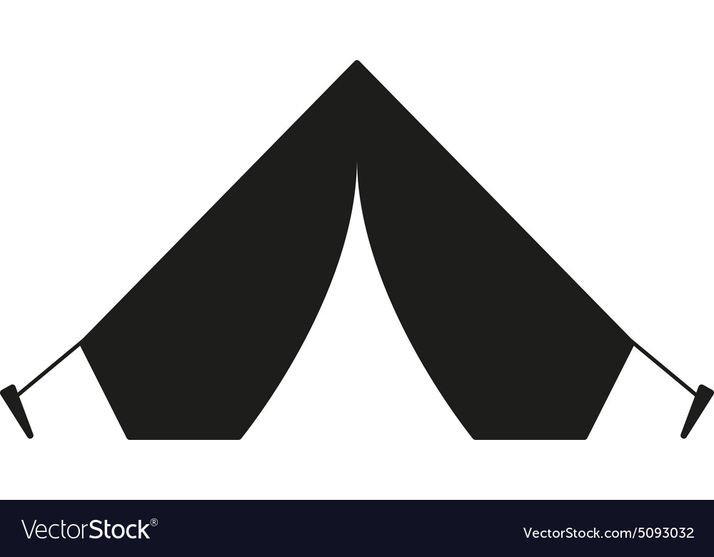 Tent icon travel symbol flat vector