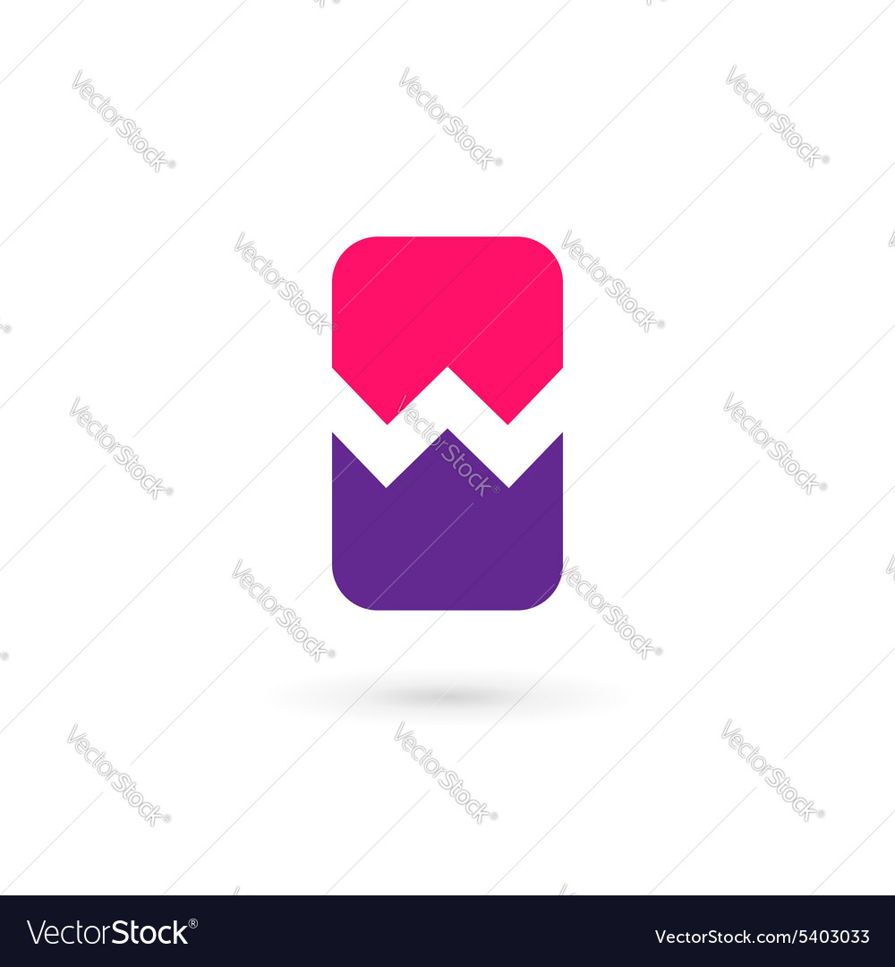 Mobile phone app letter w logo icon design vector