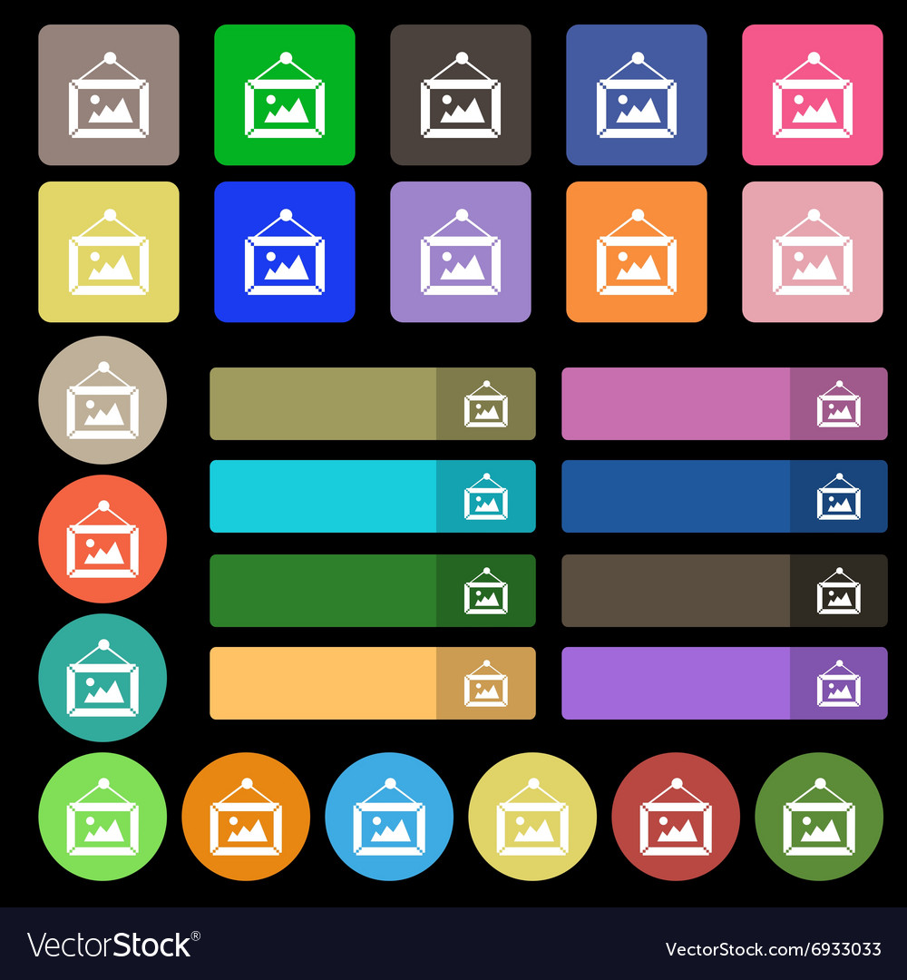 Picture icon sign set from twenty seven vector