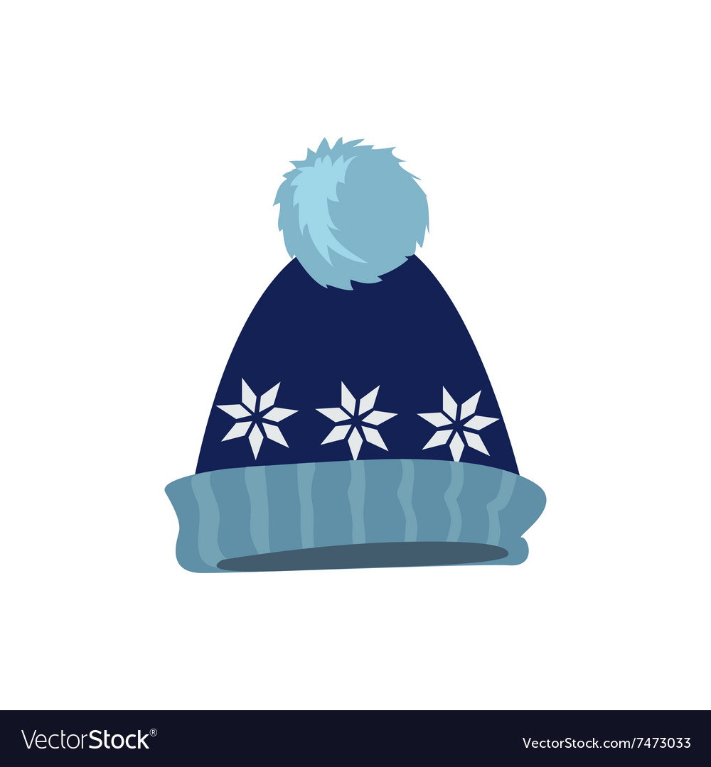 Set winter hat vector