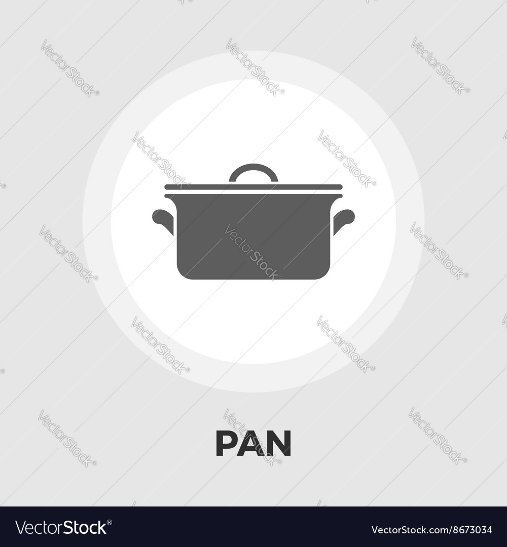 Pan icon flat vector