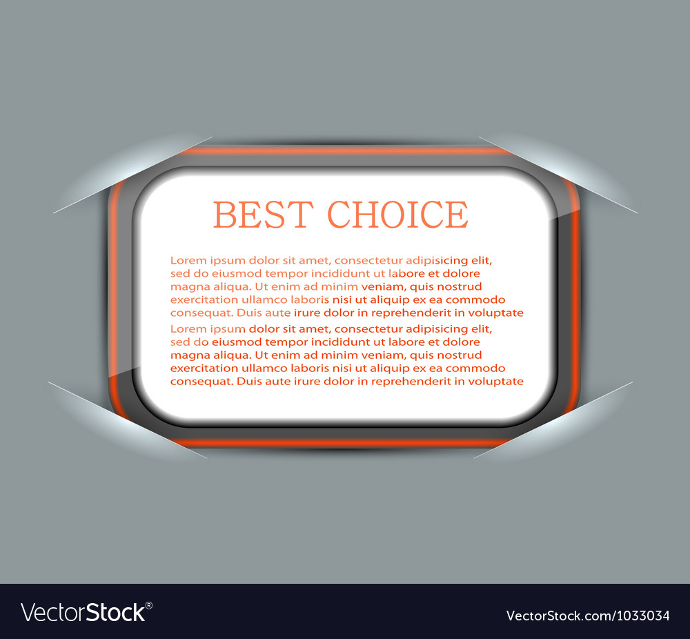 Slotted rounded rectangle frames vector