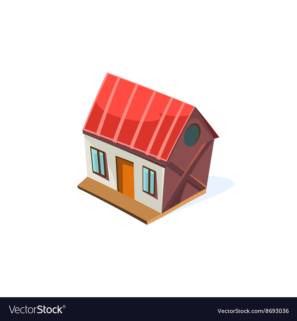Farm house simplified cute vector