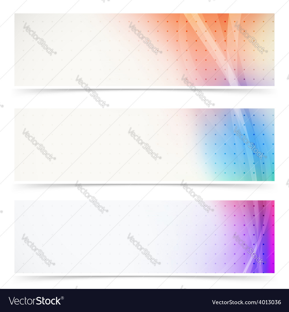 Web header abstract wave line collection vector