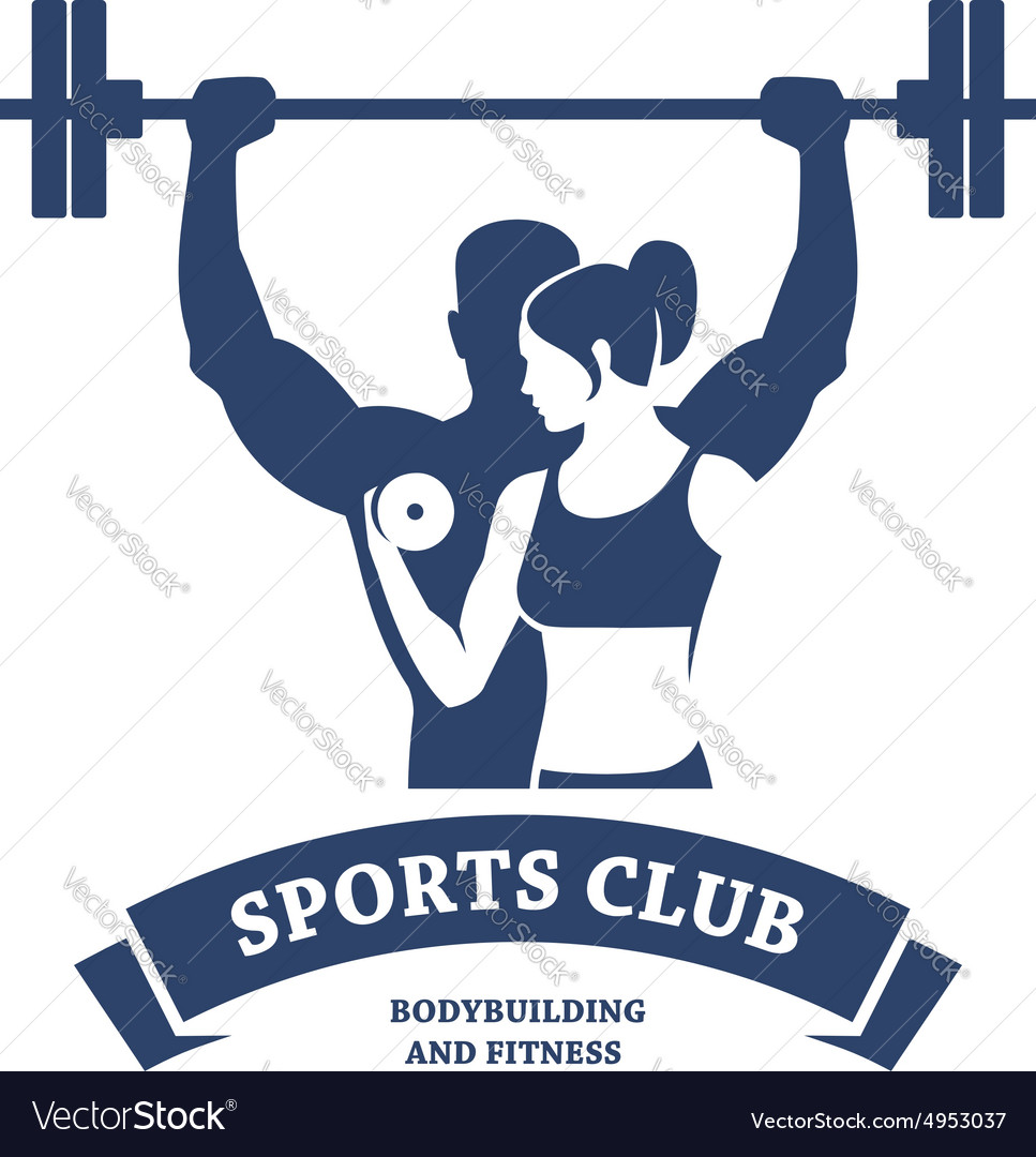 Fitness and bodybuilding club vector
