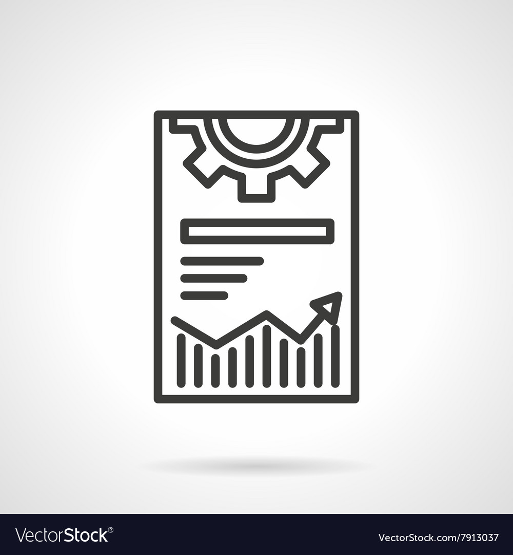 Web optimization icon black line icon vector