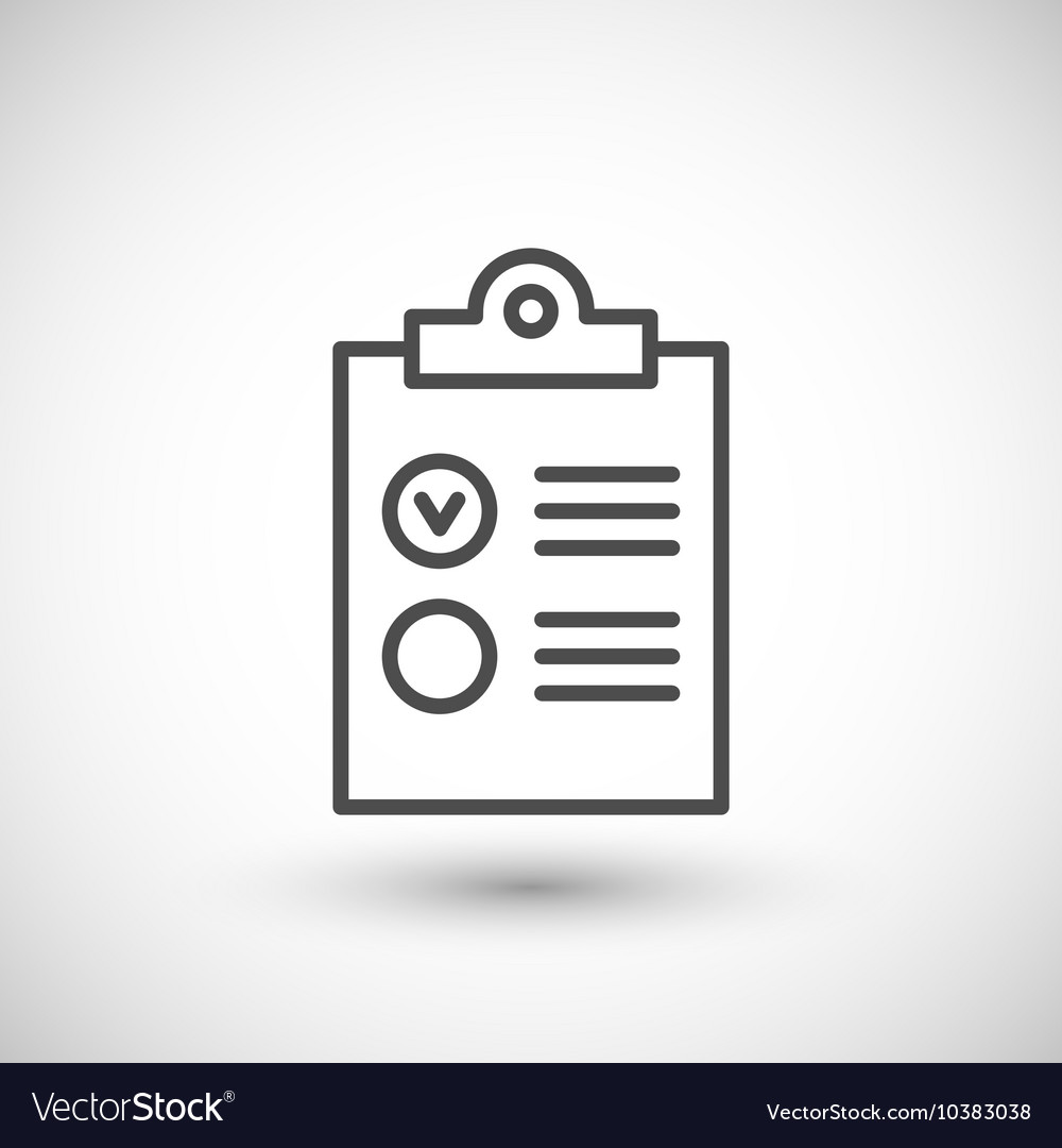 Checklist line icon vector