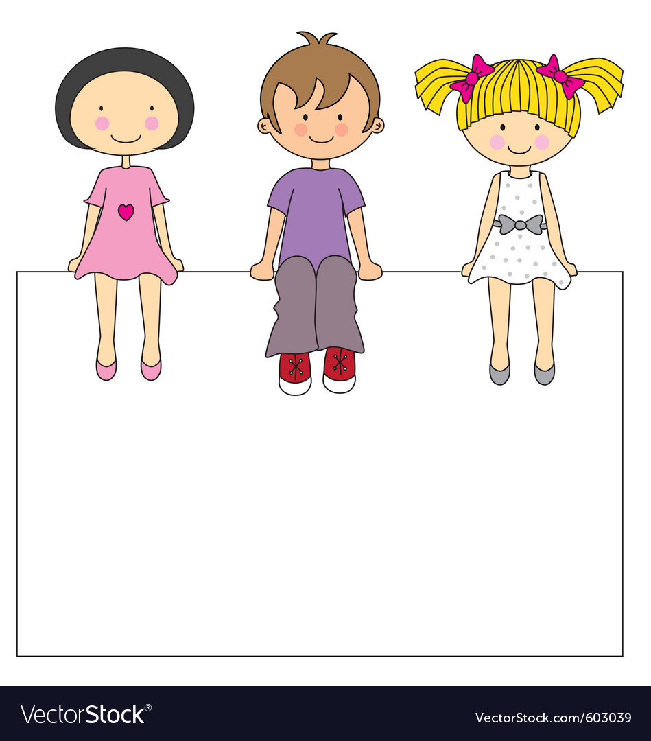 Kids frame vector