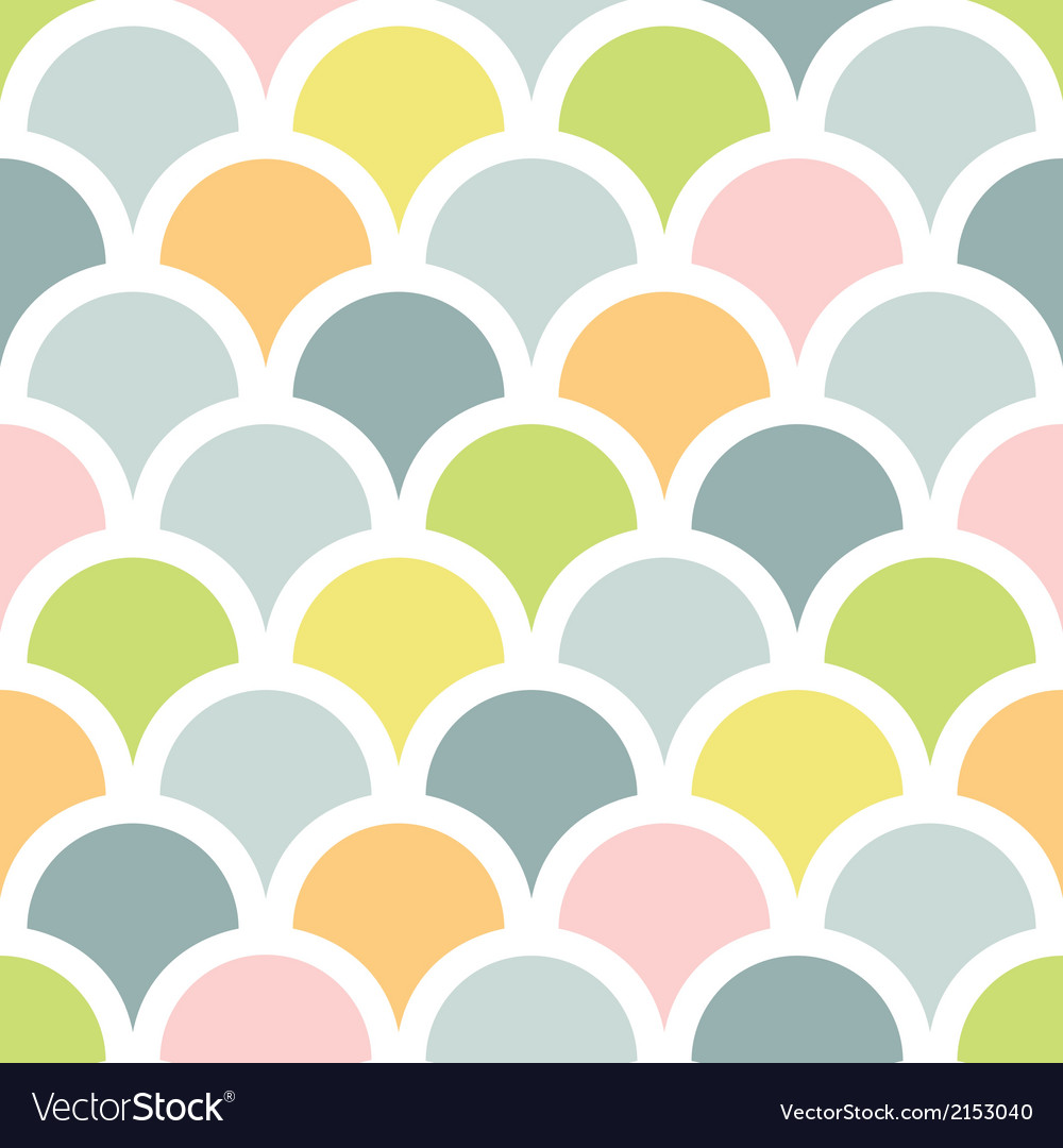 Abstract colorful fishscale seamless pattern vector