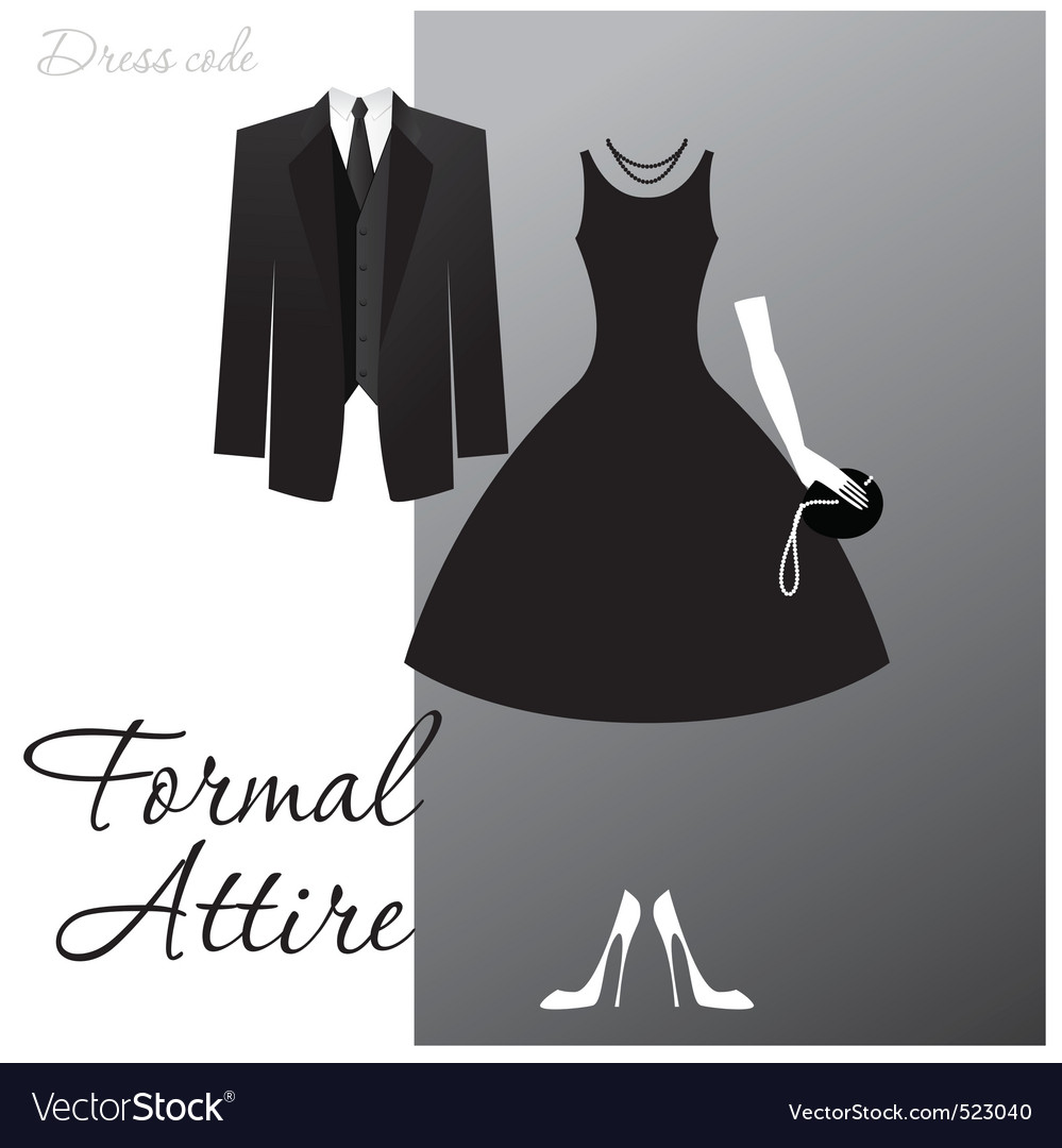 Formal attire vector
