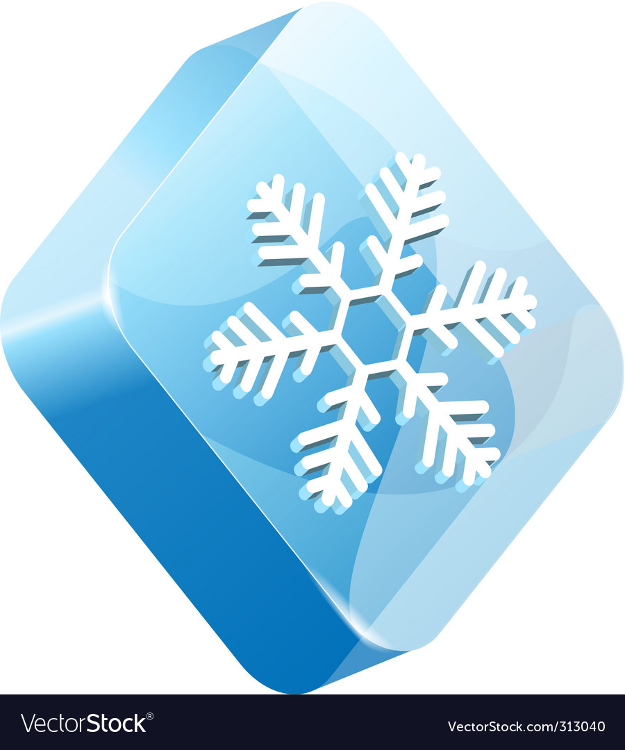 Ice button vector