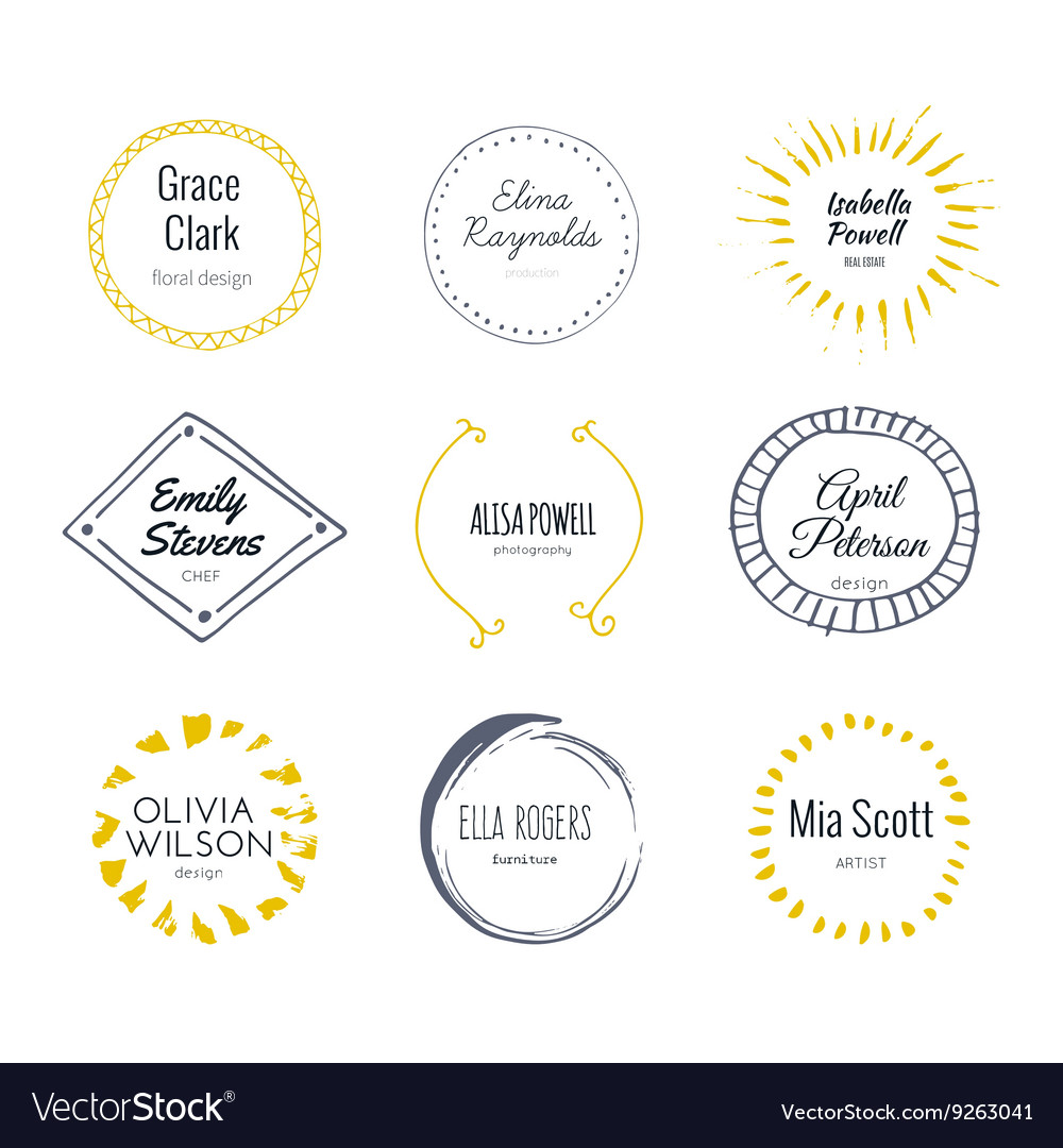 Handdrawn logo vector