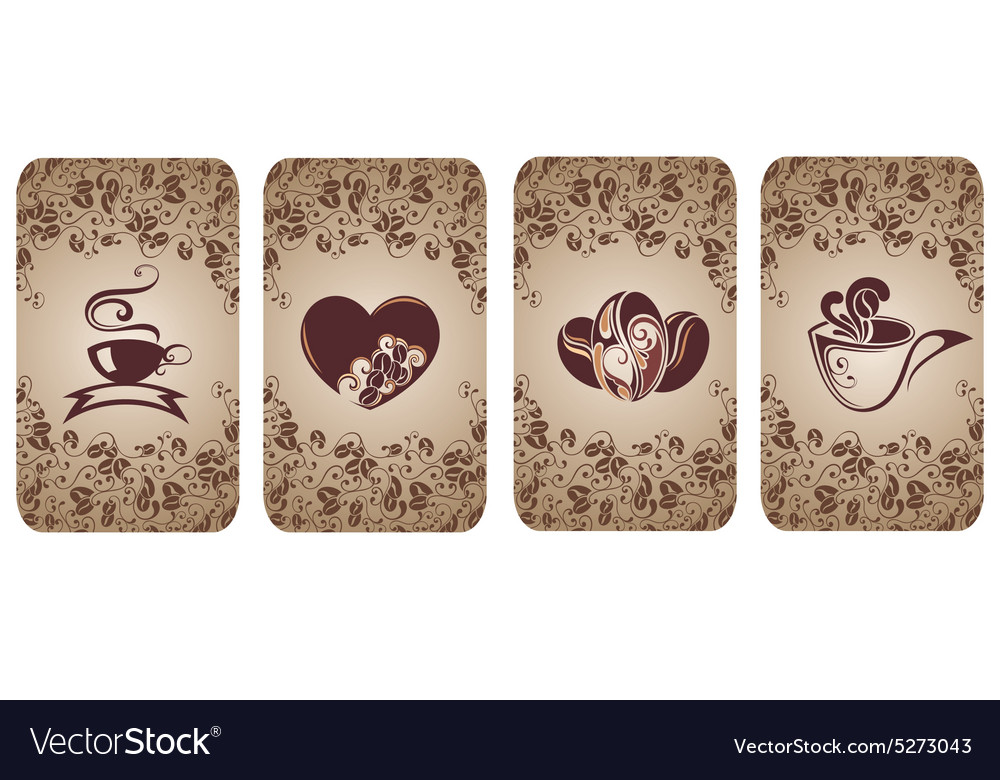 Cards for cafe and restaurant vector