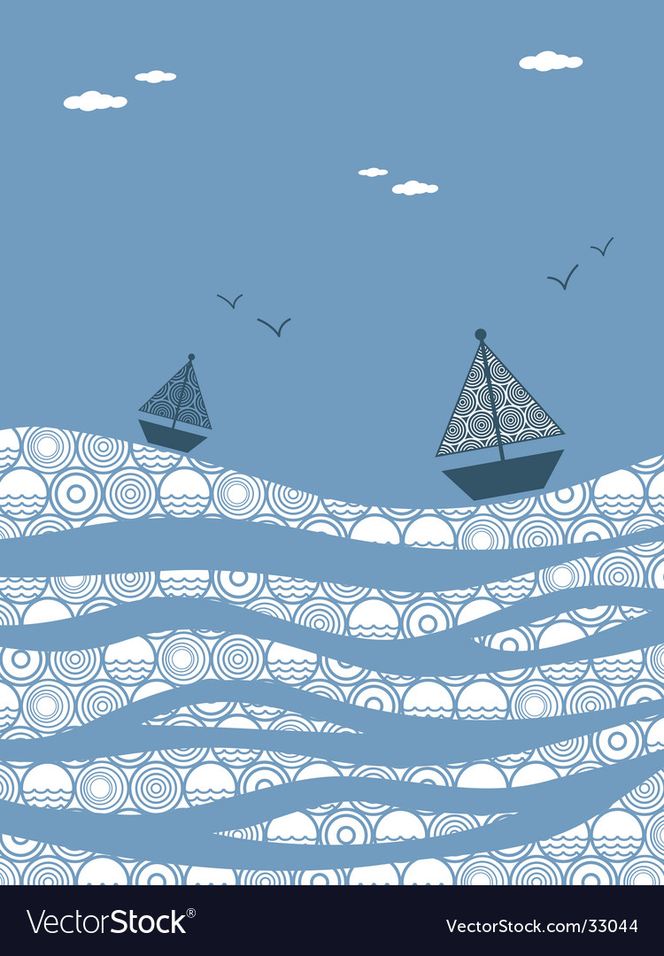 Choppy seas vector