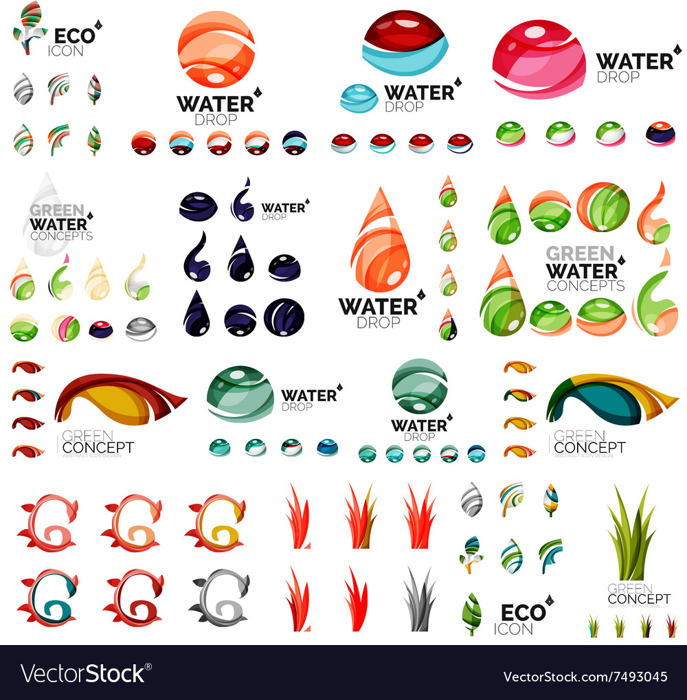 Eco nature concepts icon set vector