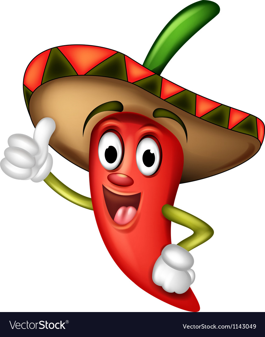 Mexican red chilli vector