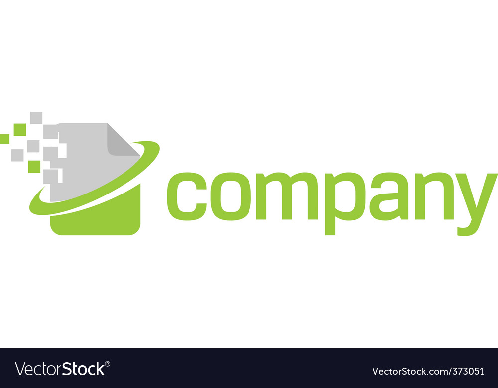Document technology logo vector