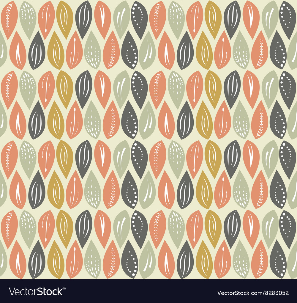 Leaf seamless pattern background vector