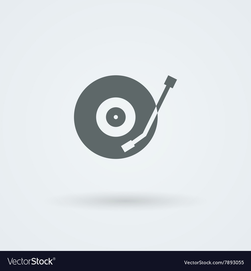 Musical plate icon vector
