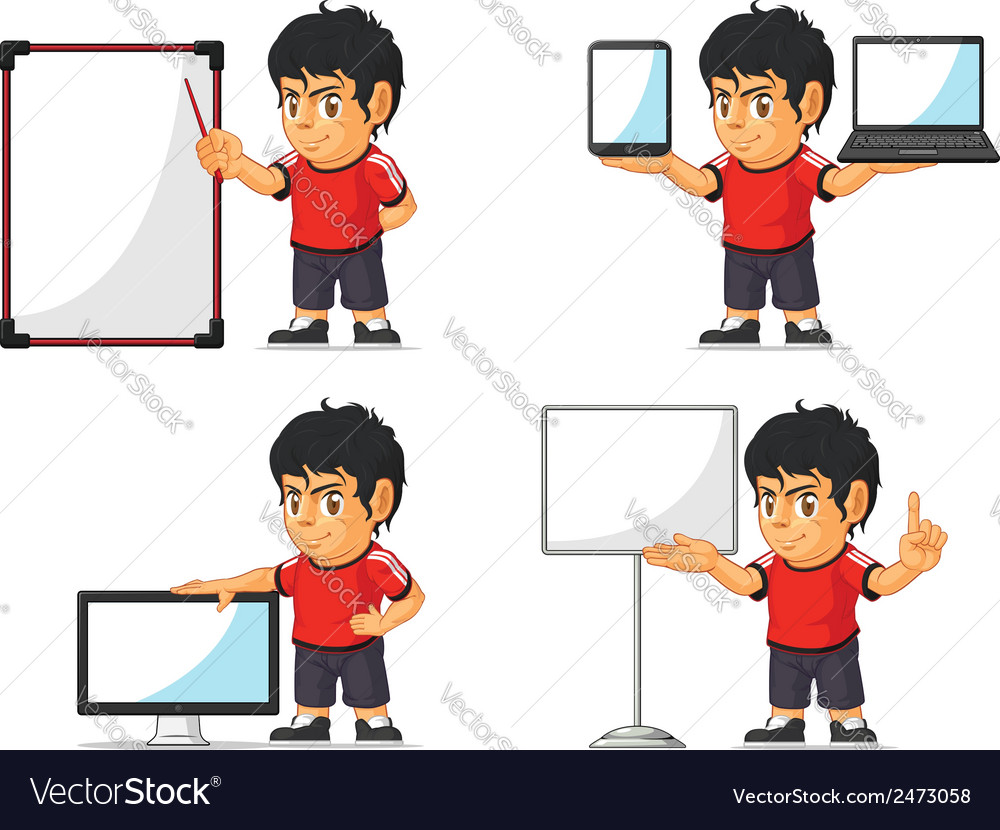 Soccer boy customizable mascot 20 vector