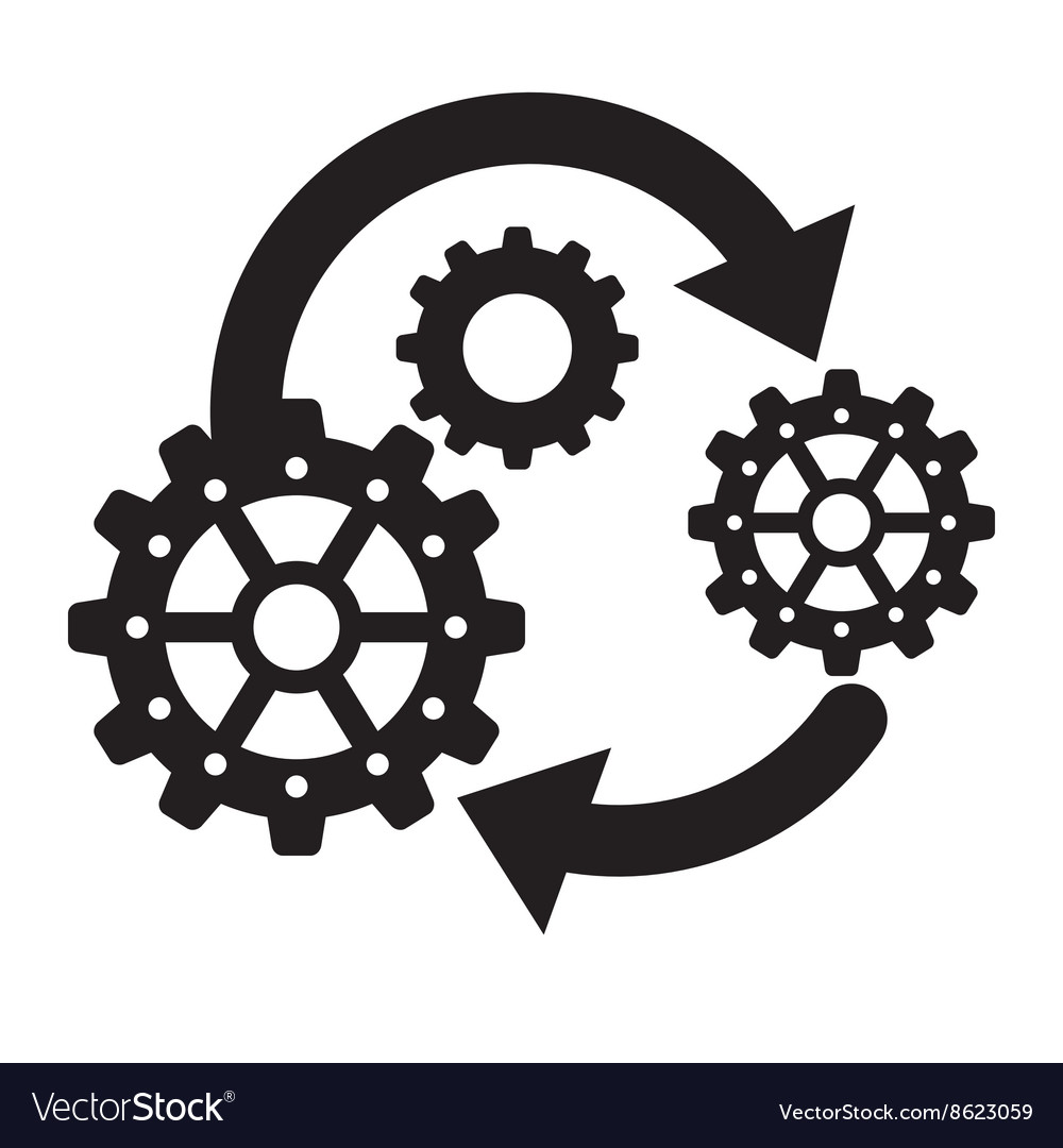 Process design strategy and technology concept vector