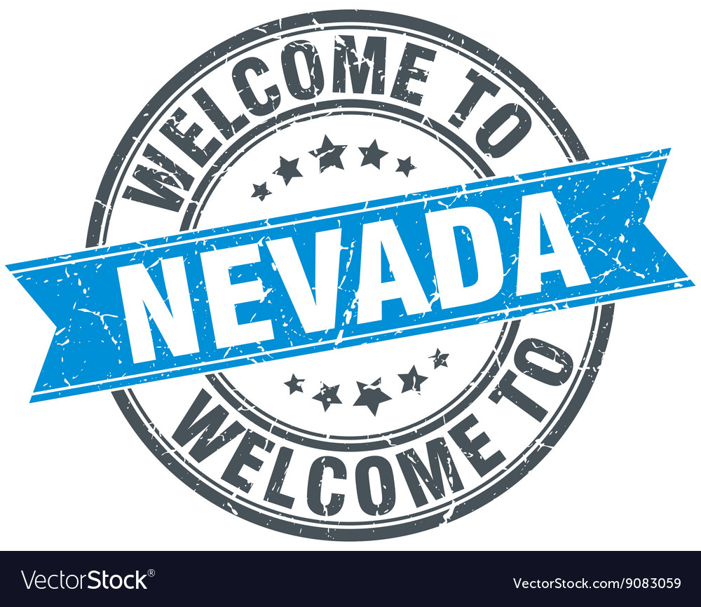 Welcome to nevada blue round vintage stamp vector