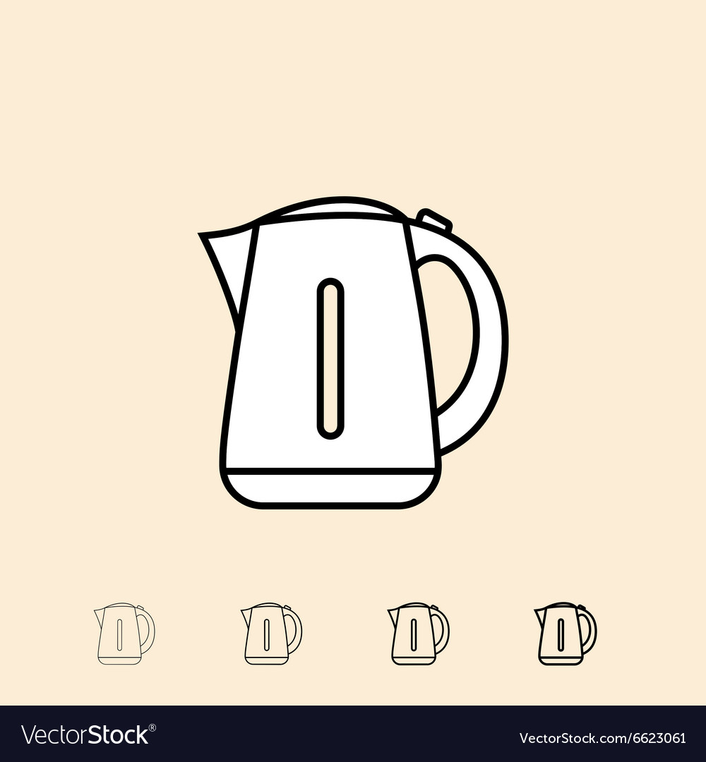 Icon of electric kettle vector