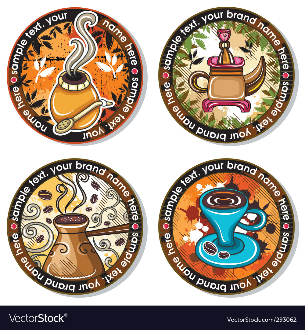Drink coasters vector