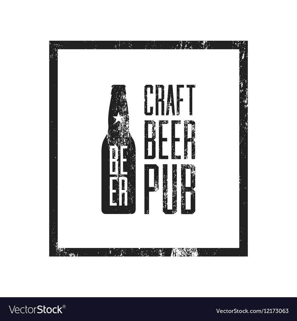 Craft beer pub logo concept isolated vector