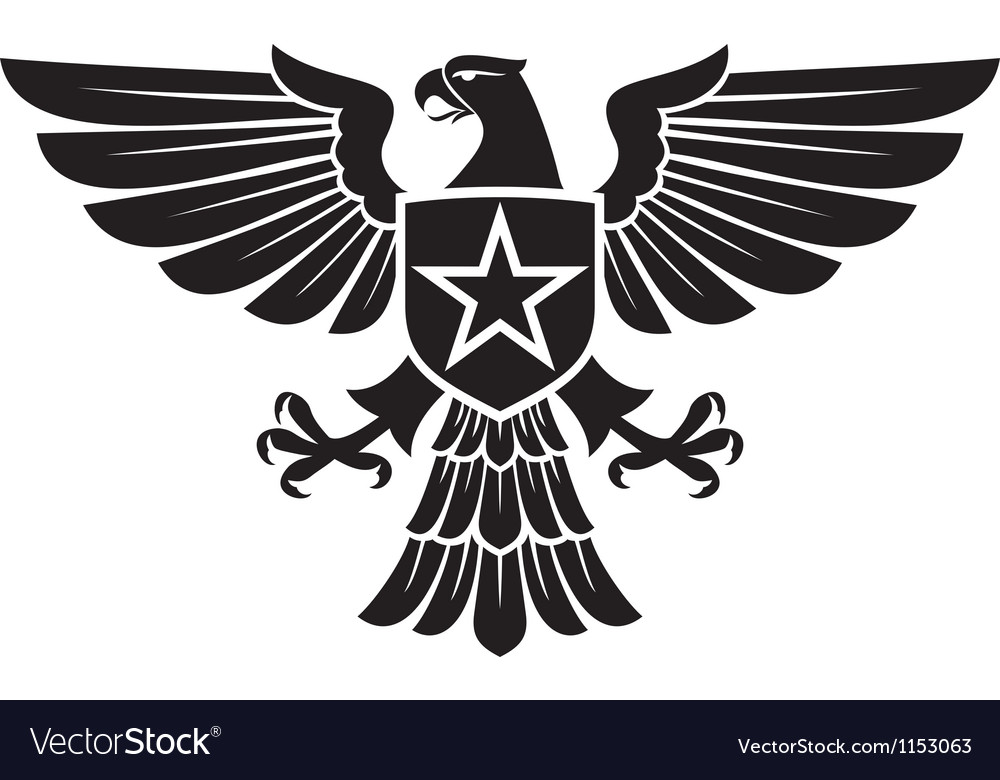 Eagle and star coat of arms vector