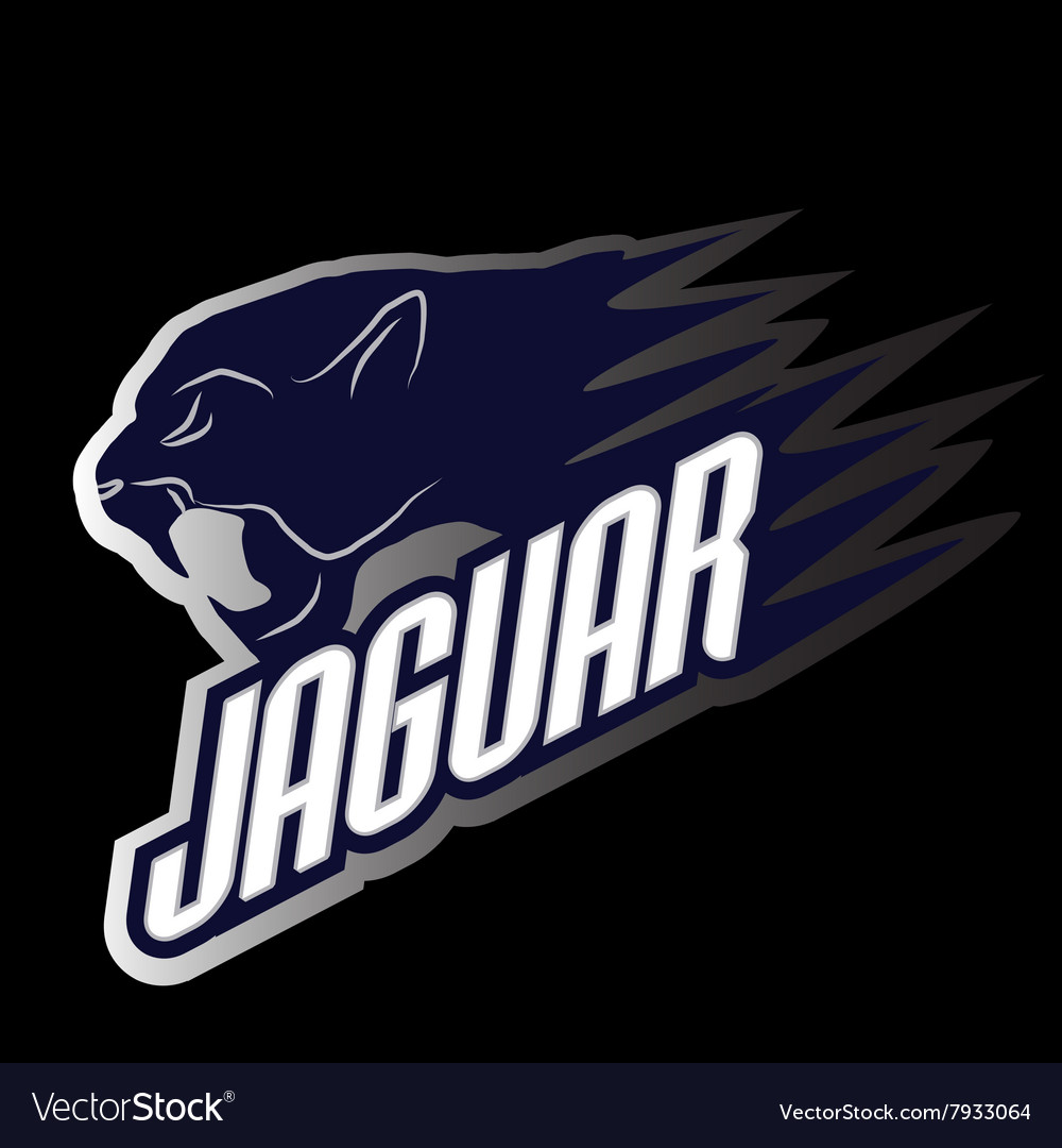Head jaguar professional logo for a club vector