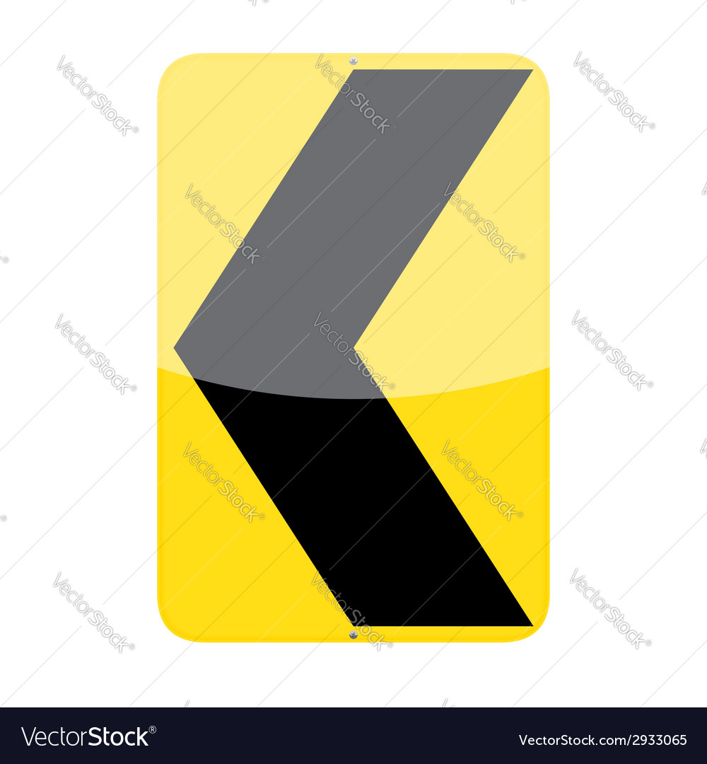 Chevron alignment sign vector