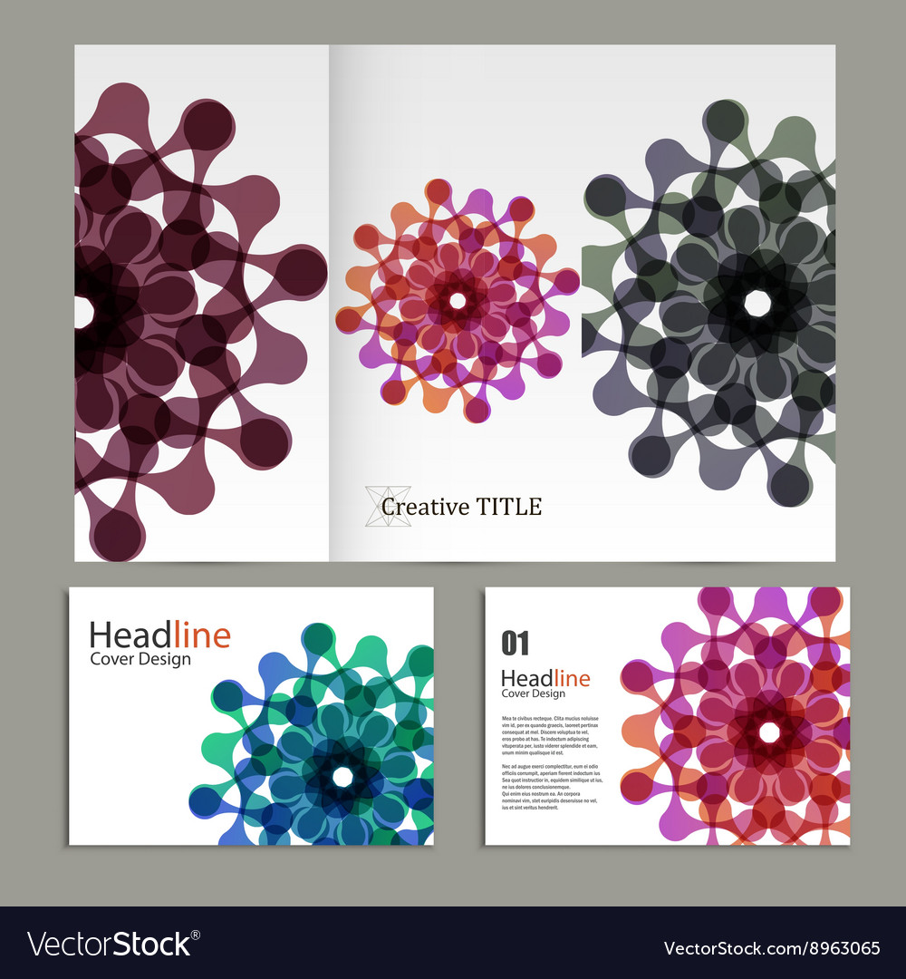 Pattern flyer and brochure with abstract vector