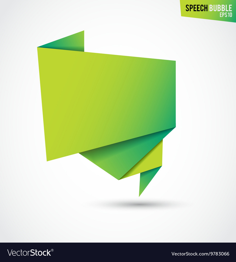 Abstract green banner isolated on the white vector