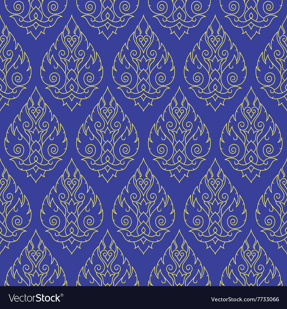 Seamless thai pattern repetitive background vector