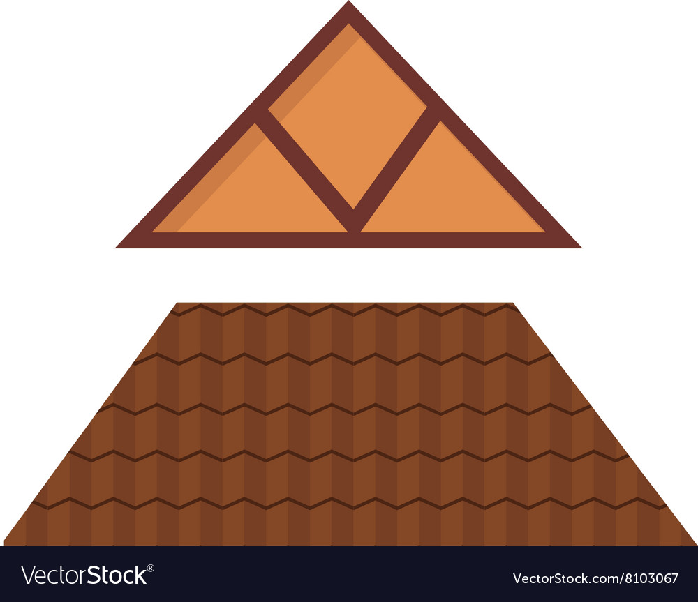 Triangular metal house roof cartoon architecture vector