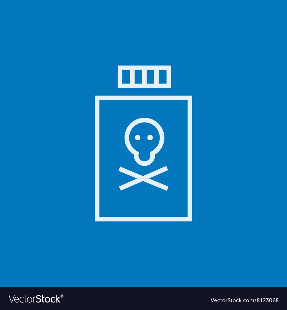 Bottle of poison line icon vector