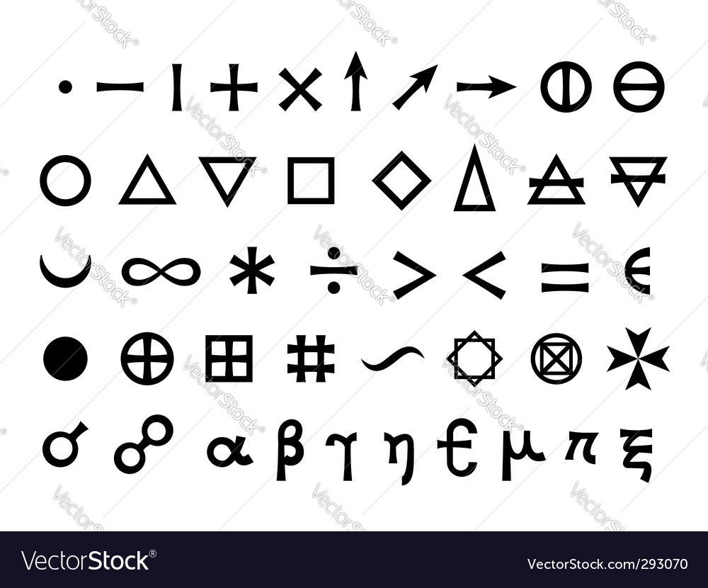 Elements and symbols vector