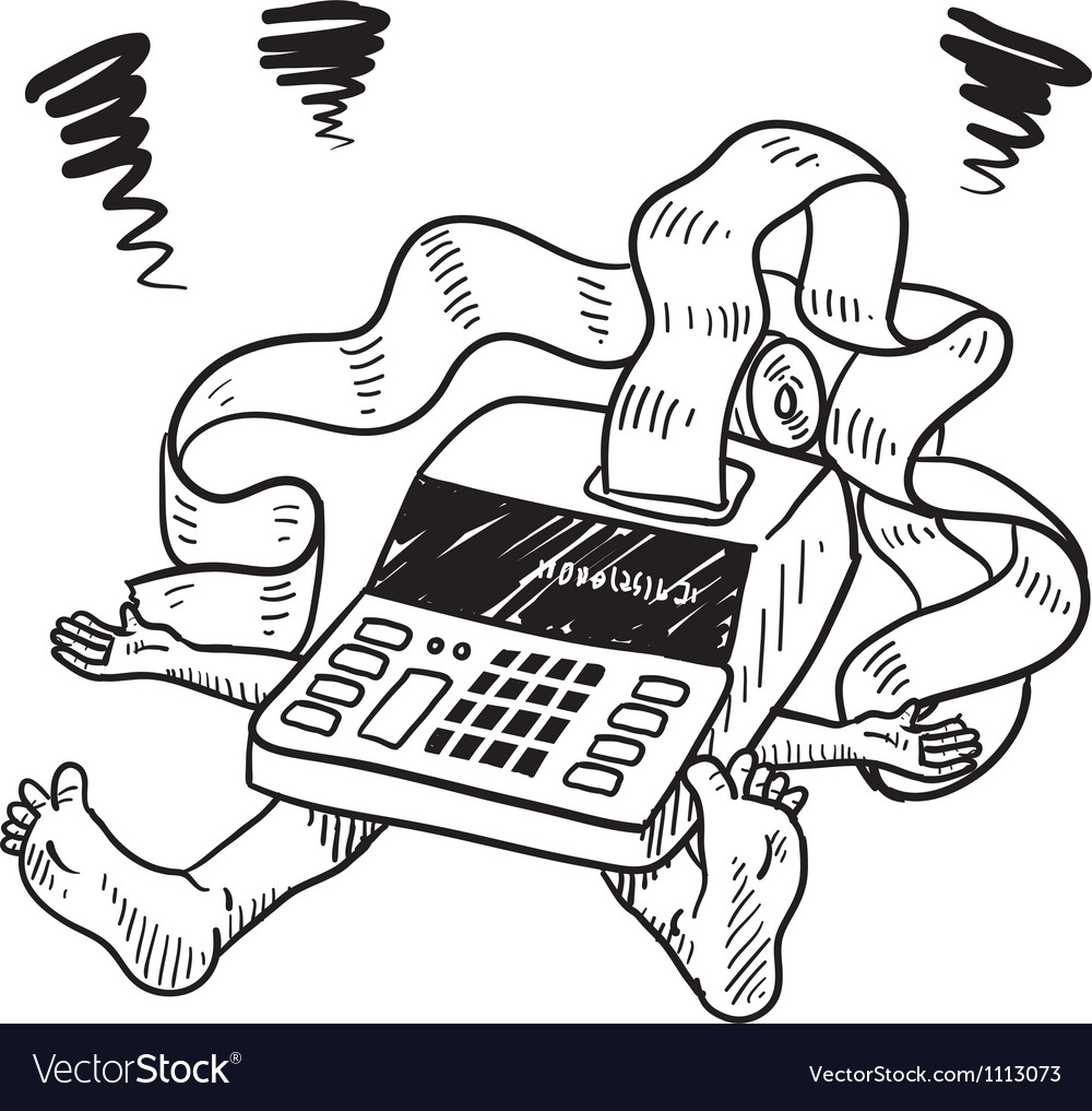Doodle squish taxes accounting vector