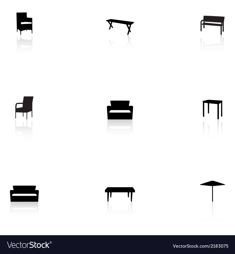 Furniture icons  outdoor vector