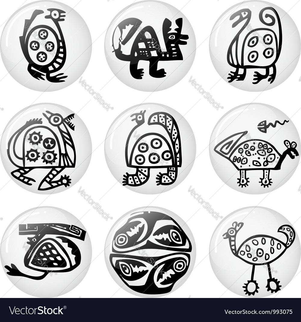 Inca iconography vector