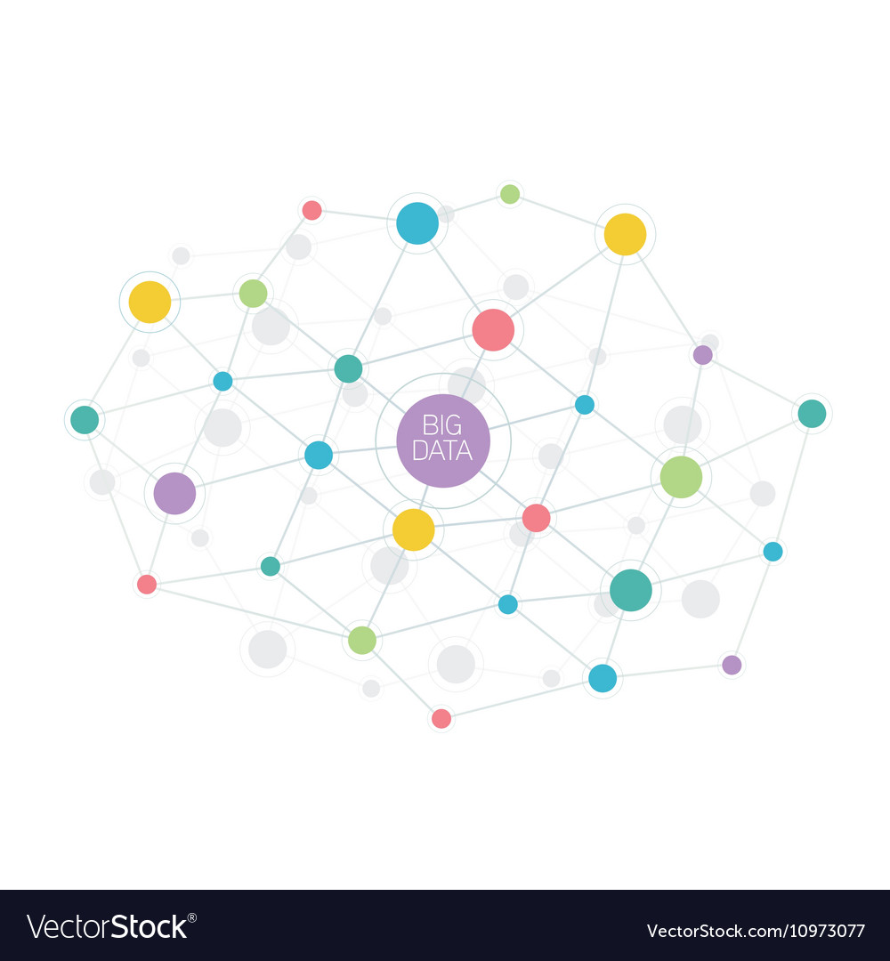 Big data abstract molecule vector