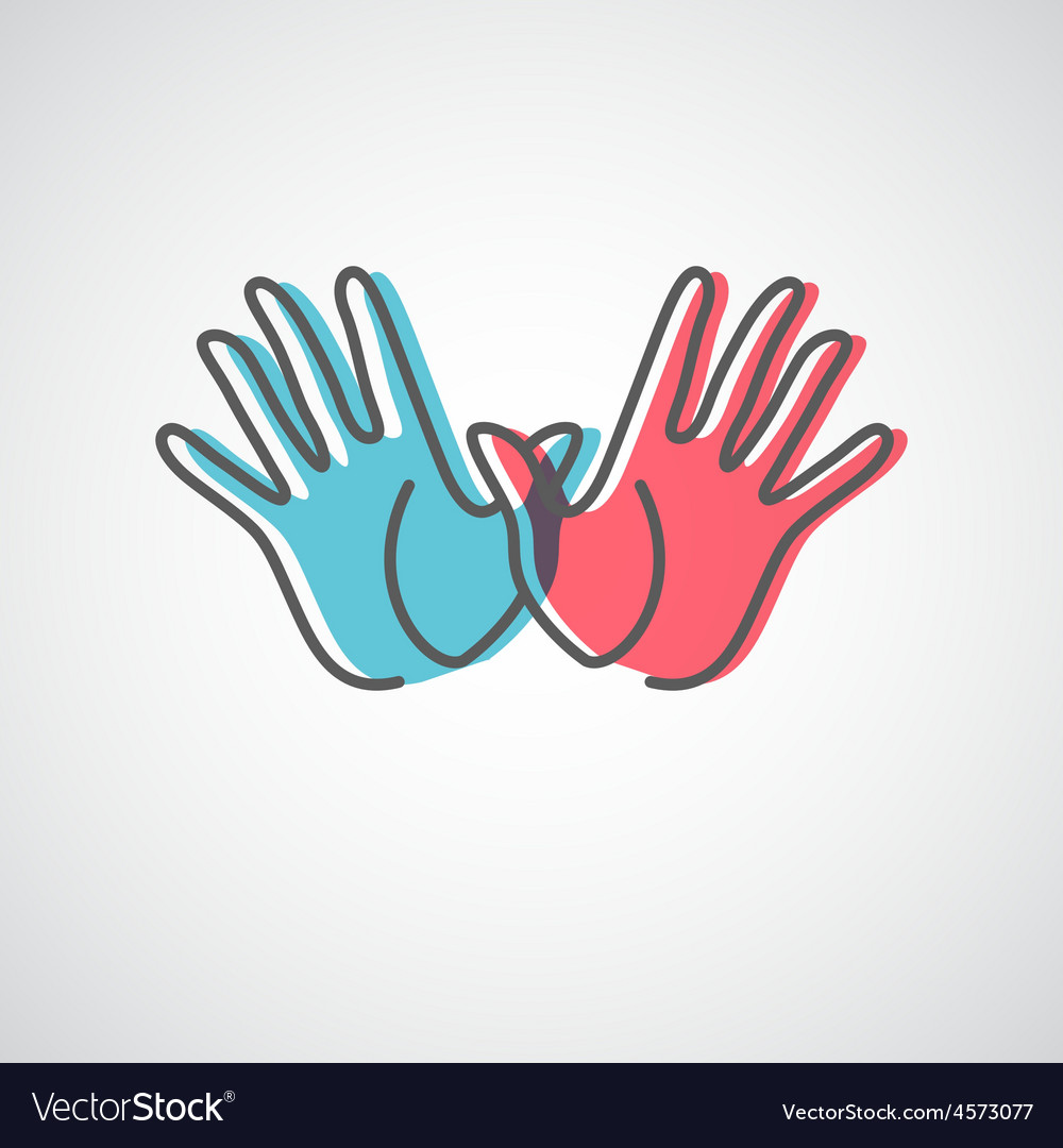 Hand logo design vector