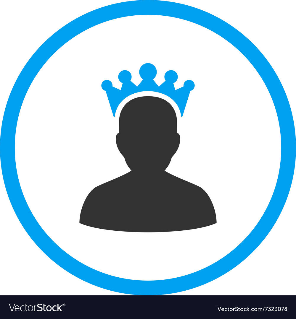 King flat icon vector