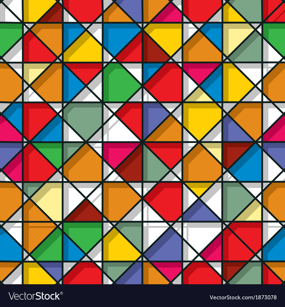 Stained glass seamless pattern vector