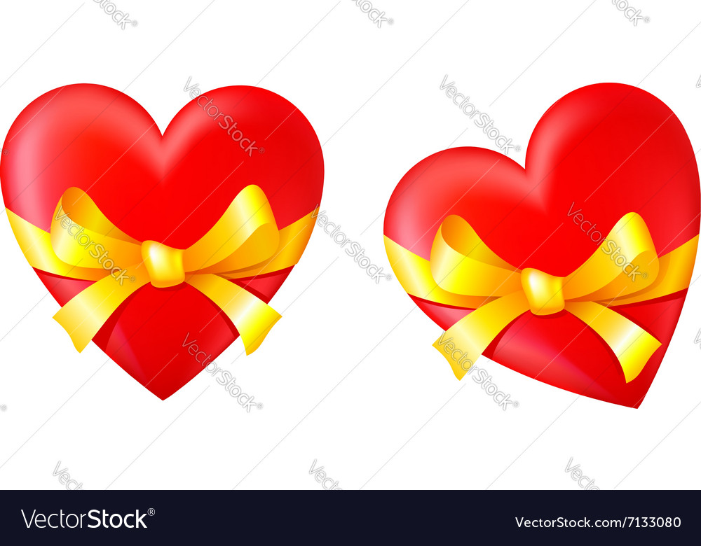 Gift in valentines day vector