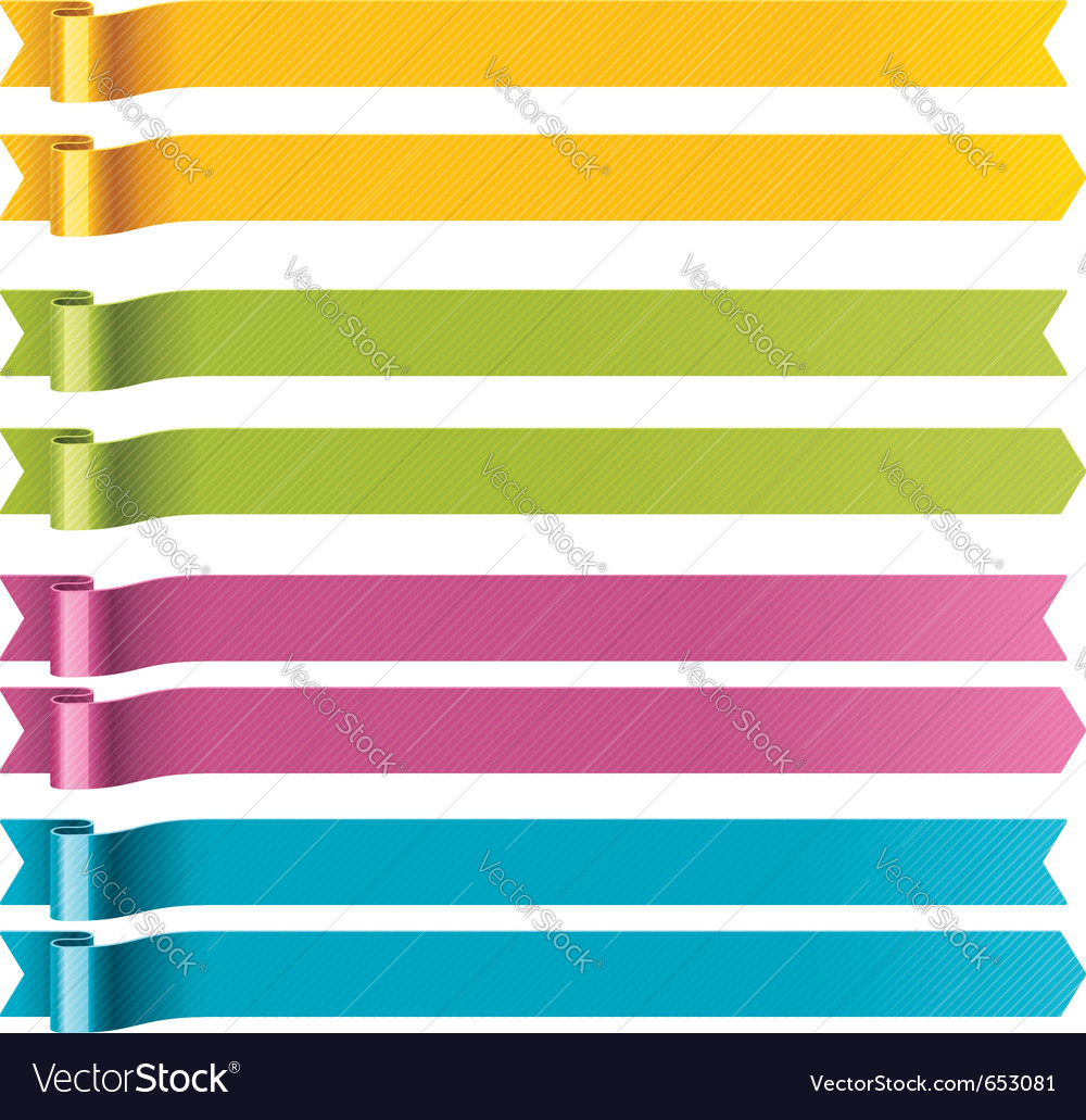Long ribbons vector