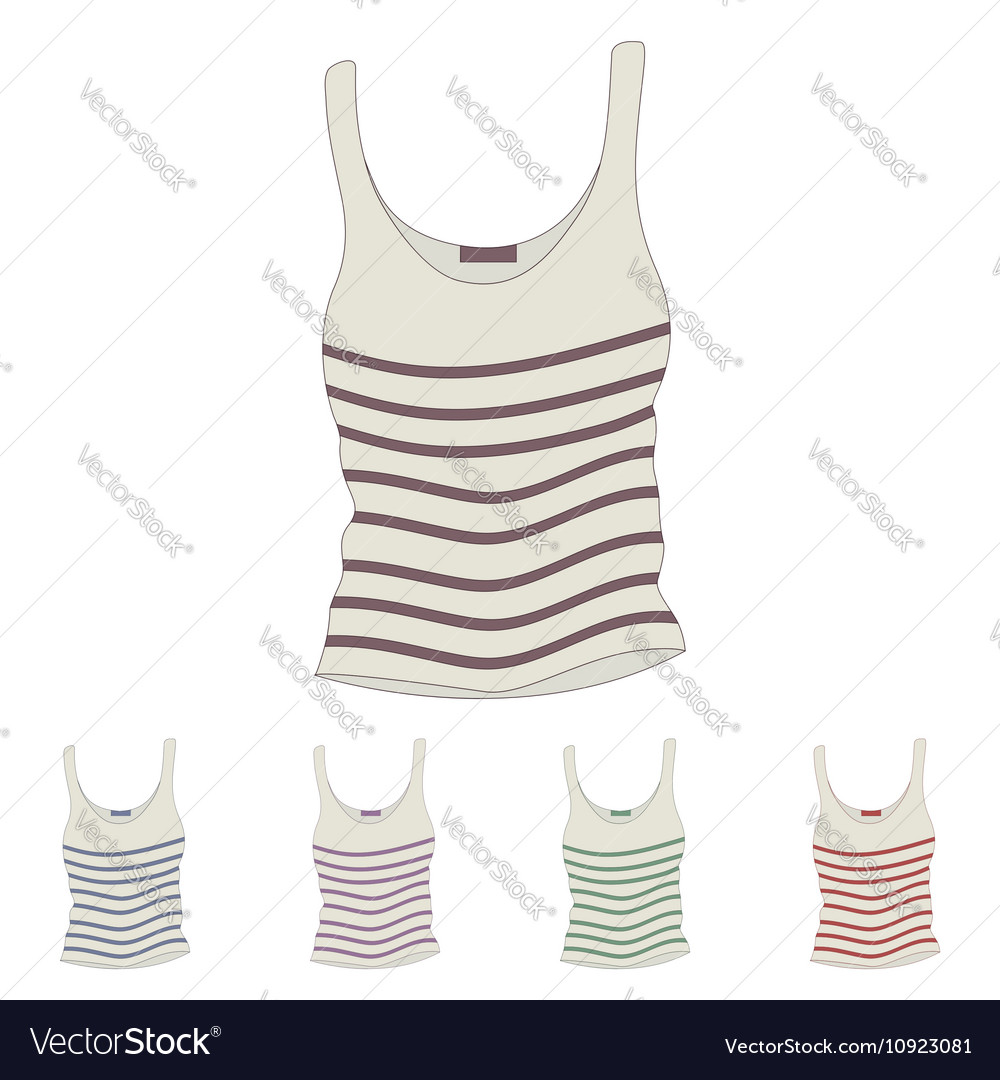 Singlet female singlet sleeveless shirts vector